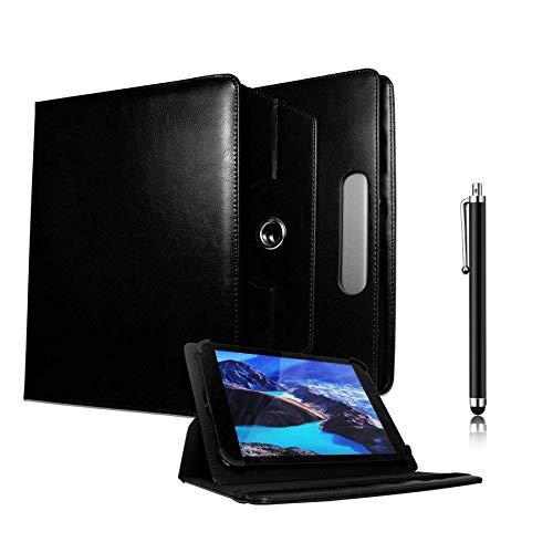Galaxy Store Schwarz Universal PU Leder Tasche Hülle 360 Grad Drehung Case mit Kapazitiver Stift Touch für Odys Neo Quad 10 Zoll (9-10 Zoll)