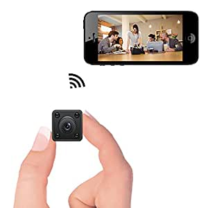 Mini WiFi Camera - Bysameyee Wireless Hidden Spy Cam con Motion Detection Night Vision, HD 720P Videoregistratore IP con Live View mobile per iPhone Android
