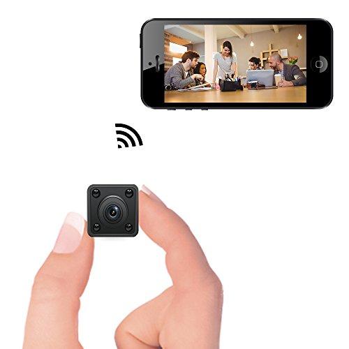 Mini cámara WiFi - Bysameyee Cámara espía inalámbrica oculta con detección de movimiento Visión nocturna, videograbador HD 720P IP con pantalla táctil móvil para iPhone Android