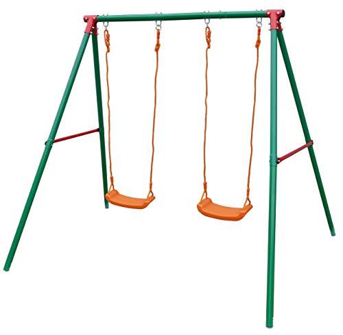 Gartenpirat Schaukel-Gestell Metall für Garten Doppelschaukel für Kinder, TÜV-geprüft