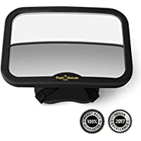 Royal Rascals - Baby Car Mirror for Backseat - Black Frame – Safest Shatterproof Baby Mirror for Car - Rear View Baby Car Seat Mirror to See Rear Facing Infants and Babies