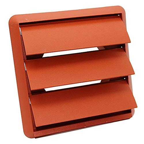 Kair Air Vent Gravity Grille with Non-Return Shutter Flaps - 100mm Round Spigot - Terracotta - SYS-100 - DUCVKC243-TC by Kair