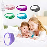 6pcs Wristband Hand Sanitizer Dispenser- Silicone Adjustable Wearable Re-fillable Wrist for School Travel Work