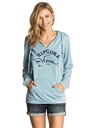 Rip Curl Damen Salty Waves Fleece Sweatshirt, Niagara Blue, S