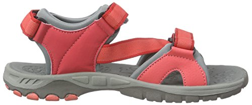 Jack Wolfskin Lakewood Ride Sandal G, Sandales de sport fille Orange - Orange (hibiscus red 2260)