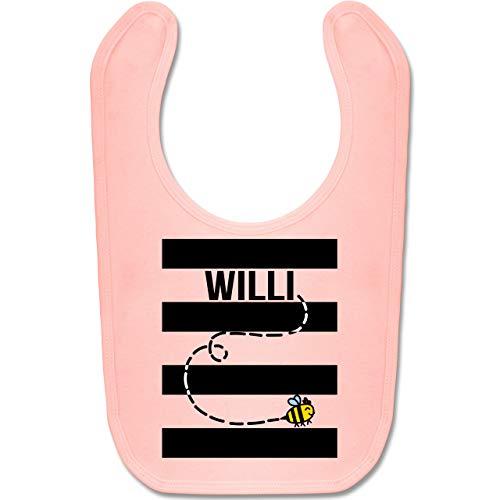 Shirtracer Karneval und Fasching Baby - Bienen Kostüm Willi - Unisize - Babyrosa - BZ12 - Baby Lätzchen Baumwolle (Keine Kostüme An Kinos)