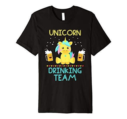 Beer Drinking T-shirt (Einhorn Bier trinken Team Colorful Neuheit Shirt)