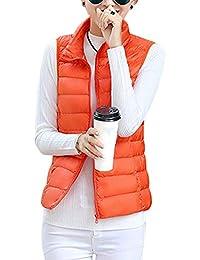 c7ad67b0bdf ShiFan Womens Padded Gilet Bodywarmer Packable Lightweight Jacket Fitted  Puffer Coat