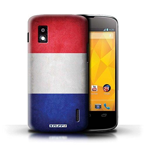 Kobalt® Imprimé Etui / Coque pour LG Nexus 4/E960 / Honduras conception / Série Drapeau France/français