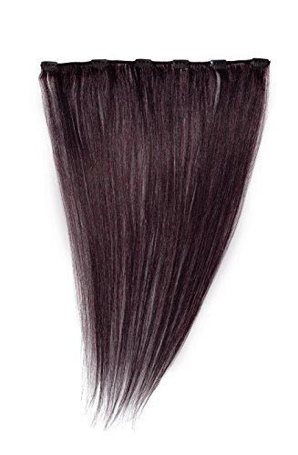 American Dream - A1/QFC12/18/080 - 100 % Cheveux Naturels - Barrette Unique Extensions à Clipper - Couleur 080 - Brun Foncé Moka - 46 cm
