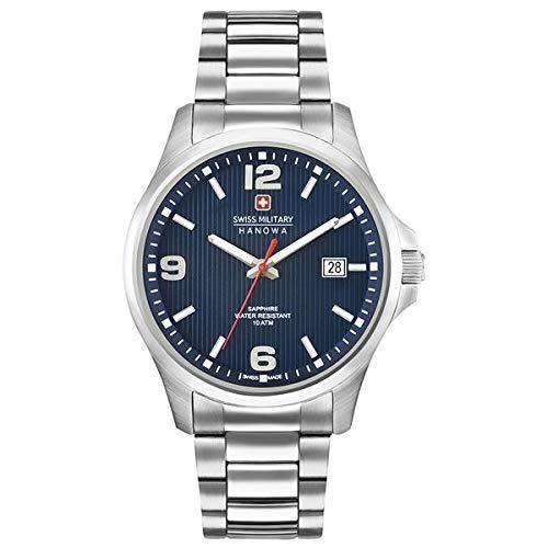 SWISS MILITARY-HANOWA Herren Analog Quarz Uhr mit Edelstahl Armband 06-5277.04.003