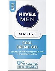 NIVEA Men, Kühlendes Creme-Gel für Männer, 50 ml Spender, Sensitive Cool, 0% Alkohol