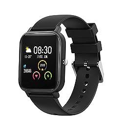BingoFit Smartwatch, 1,4 Zoll Voll Touchscreen Fitness Tracker mit Pulsmesser, Schrittzähler, Schlafmonitor, Call SMS Erinnerung, Wasserdicht Aktivitätstracker Sportuhr für Herren Damen iOS Android