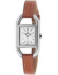 Yonger & Bresson DCC 1694 – 02 – Reloj para mujer – Cuarzo Analógico – Reloj color blanco – pulsera piel marrón