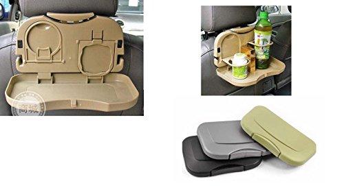 Preisvergleich Produktbild Auto Rücksitz Getränkehalter Klapptisch Dosen Becher Faltbar Grau
