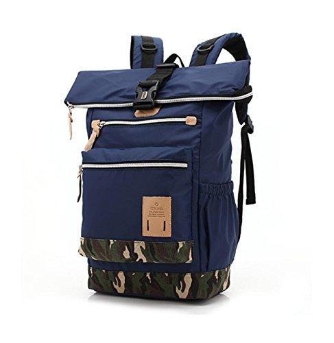 Z&N Camuffamento multifunzione all'aperto borsa a tracolla uomini e donne moda zaino viaggio di svago zaino tattico zaino militare camminando bagaglio palestra borsa borsa attrezzatura da campeggioArm blue