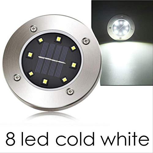XYQY Garten Lichter LED Outdoor-Dekoration 4/8 LEDs wasserdichte LED Solar betrieben Boden Lampe Straße Weg Rasen Hof Solar Licht 4pcs 8 geführt kaltweiß