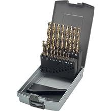 Keil 307 501 110 HSS-E DIN 338 - Juego de 19 brocas de cobalto para perforadora de metal en estuche RoseBox (rectificada, afilada en cruz, 1-10 mm)