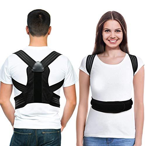 LOOTUS Rücken Haltungskorrektur für Damen und Herren, Entlastet Schultern Oberen Rückenschmerzen, Verbessert die Haltung und Korrigiert Hunching, Schlüsselbein Unterstützung Verstellbaren Gürtel -