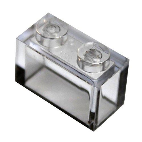 Preisvergleich Produktbild LEGO City - 50 transparent klar / durchsichtig Steine mit 1x2 Noppen