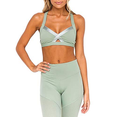 TOPKEAL Damen BH Push Up Bralette Frauen Sport Bustier Dessous Set Fitness-BH Feuchtigkeitsspendende Und Schwitzende Tasse Yoga-BH-Weste -