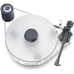 Pro-Ject RPM 9.1 - Tocadiscos manual de plástico (brazo de aguja de carbono Pro-ject 9cc), color transparente
