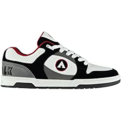 Airwalk Hombre Throttle Sn CL82 Zapatillas skate Negro/Blanco/Rojo 41