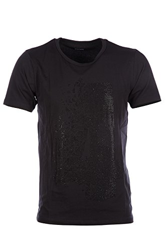 dirk-bikkembergs-mens-short-sleeve-t-shirt-crew-neckline-jumper-micro-studs-black-uk-size-xl-uk-42-c