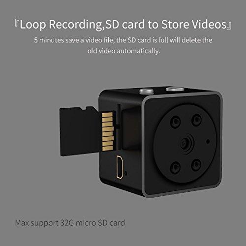 Mini Nascosta Telecamera Spia AOBO 1080P HD Microcamere Interno/Esterno Rilevamento di Movimento Portatile Videocamera di Sorveglianza Video Registrazione in Loop - 2