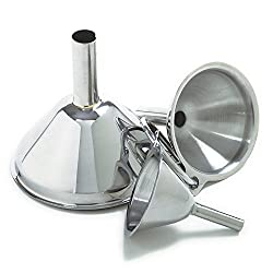 Norpro Stainless Steel Funnel Set, 3-Pieces