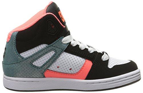 DC Shoes - Scarpe a collo alto Rebound SE G, Bambino Black/Multi/White