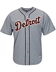 Detroit Tigers Majestic coolbase MLB Maillot Road Gris