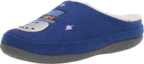 TOMS Ivy Save The Children Royal Blue Felt/Snow Man Embroidery 8 -