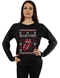 Rolling Stones Damen Tongue Christmas Sweatshirt