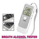 #2: Alria Dual Digital LCD Clock Alcohol Breath Tester Analyzer-Breathalyzer Detector Test