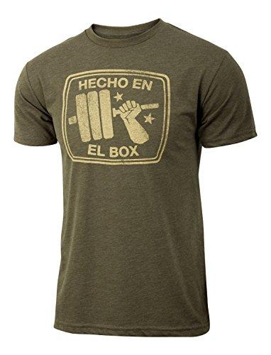 Hecho En El Box-Herren Gewichtheben Military Grün Triblend Workout Gym T-Shirt, Herren, military green - Stretch-fit-bar