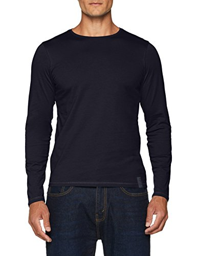 s.Oliver Herren T-Shirt 13.808.31.4535, Blau (Night Blue 5900), Large