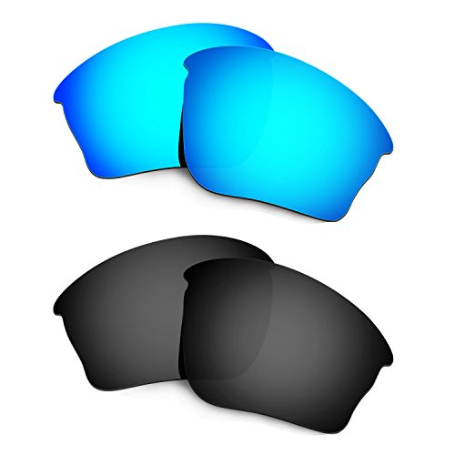 HKUCO Mens Replacement Lenses For Oakley Half jacket XLJ Sunglasses Blue/Black Polarized