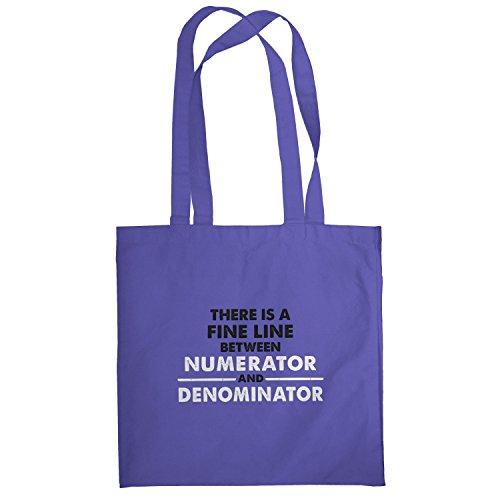 Texlab–numerator denominator–sacchetto di stoffa Marine