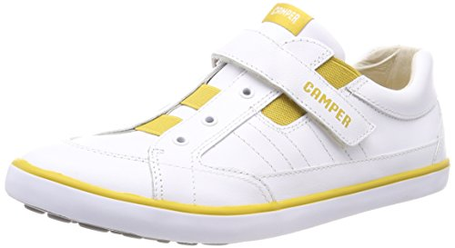 CAMPER Unisex-Kinder Pursuit Sneaker, Weiß (White Natural 100), 35 EU