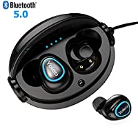 YOLEO Wireless Earbuds Bluetooth 5.0 True Wireless TWS Earbuds In-Ear Headphones 12H Playtime with 3D Stereo Sound Built-in Microphone Compact Charging Case/Station Noise Cancelling