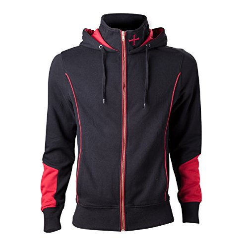Assassin's Creed Rogue Zipper Hoodie Logo Size L Bioworld