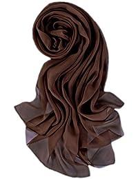 Prettystern Damen Seidenstola 176cm schwarz