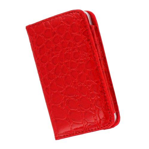 "Coque Semi-Rigide Ultra-Slim APPLE IPHONE 4 / IPHONE 4S [La Sport Case Premium] [Gris perle] de MUZZANO + 3 Films de protection écran ""UltraClear"" + STYLET et CHIFFON MUZZANO® OFFERTS - La Protection  Rouge"