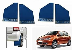 Sparco Racing Style Plastic Car Mudflaps Set Of 4 BLUE-Tata Indica Vista