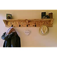 Reclaimed Wood Coat Rack With Shelf