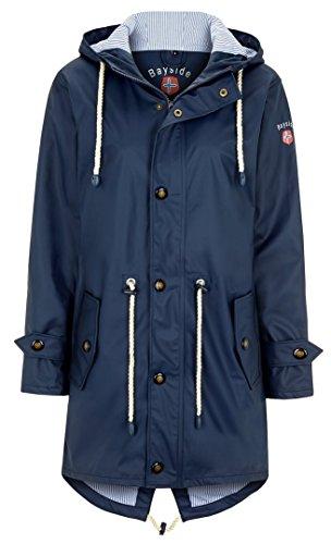 Friesennerz | Maritime Jacke | Regenjacke | Veredelt | Das Original aus Ostfriesland in 3 Modell Norderney (XS, Dunkelblau)