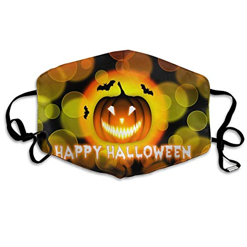 ske,Wiederverwendbar Anti Staub Schutzhülle,Happy Halloween Pattern Mouth Masks Unisex Anti-Dust Flu Washable Reusable Mouth Mask Fashion Design for Girls Women Boys Men ()