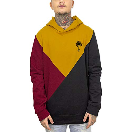 VIENTO Triangle Patch Palm Anchor Herren Kapuzenpullover (Schwarz, Large) -
