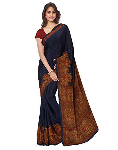 Ligalz-Womens-Clothing-Party-Wear-Low-Price-Sale-Offer-Blue-Color-Havy-Printed-Free-Size-Saree-Sari-With-Unstitched-Blouse-Piece